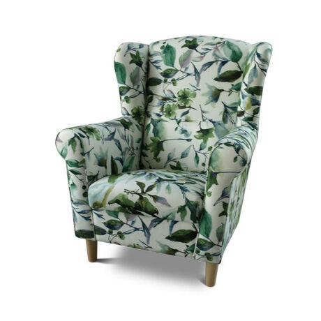 Fotel, minta levélzet - fa lábak, CHARLOT
