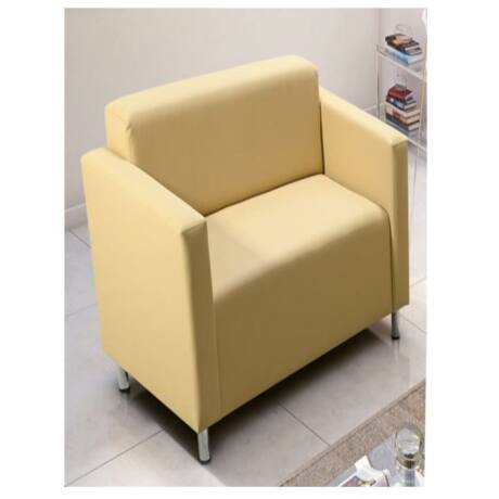 Fotel, krémszínű textilbőr, HOMKER