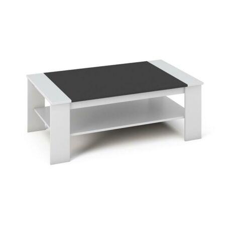 Dohányzóasztal,DTD laminált, ABS él, fehér/fekete, BAKER
