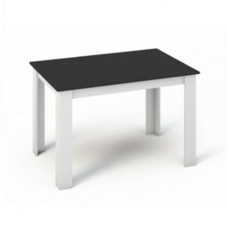 Étkezőasztal 120x80, DTD laminált, ABS élek, fehér/fekete, KRAZ
