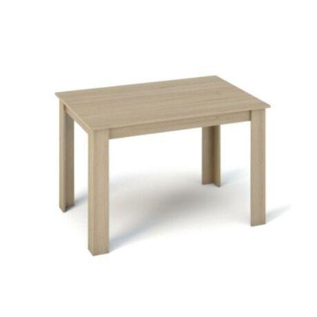 Étkezőasztal 120x80, DTD laminált, ABS élek, sonoma tölgyfa, KRAZ