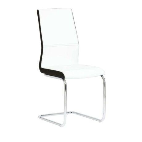 étkezőszék,fehér/ fekete textilbőr + fém, NEANA B-1040