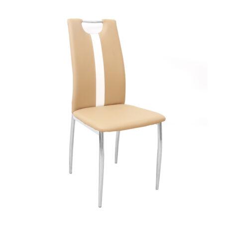 étkezőszék,bézs+ fehér textilbőr + fém, SIGNA B-1016