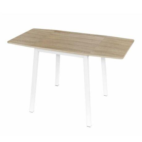 étkező asztal,mdf fóliázott/fém,sonoma tölgy/fehér,mauro.