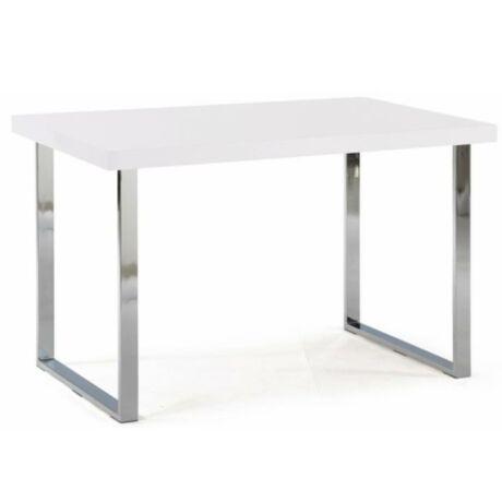 Étkezőasztal , extra magasfényű fehér HG + króm , TALOS A-1059    130x80