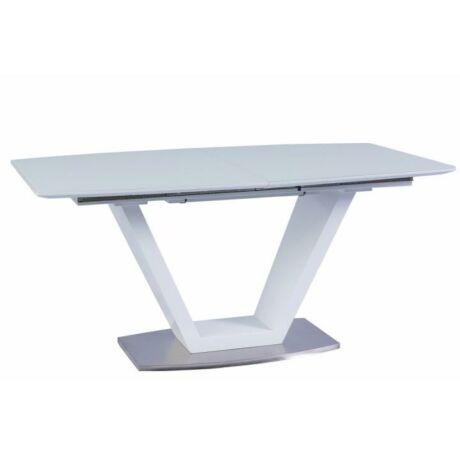 Étkezőasztal meghosszabbítható, MDF extramagas fényű fehér HG, PERAK    A-10650 160/220x90cm