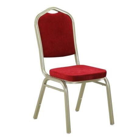 Egymásra rakható szék, bordeaux szövet + pezsgő keret, ZINA NEW