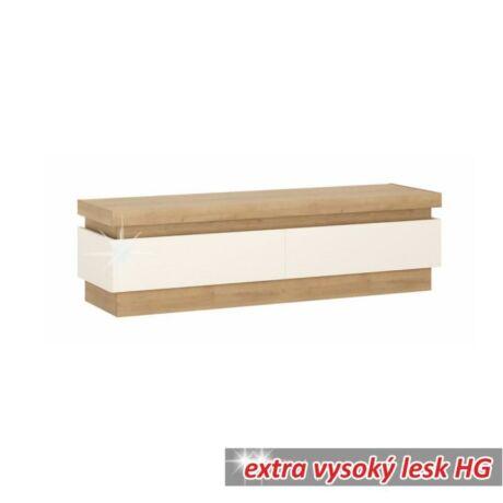 tv asztal 01,dtd laminált,tölgy riviéra/hg fehér,leonardo