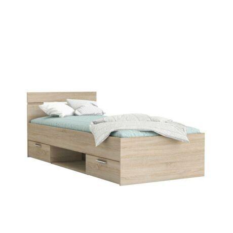 Ágy fiókokkal, 90x200, sonoma tölgy, MICHIGAN