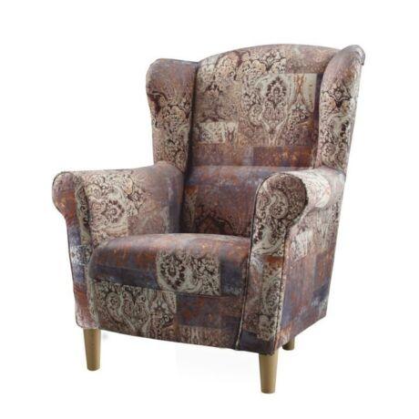 fotel,szövet vintage barna 1026,charlot