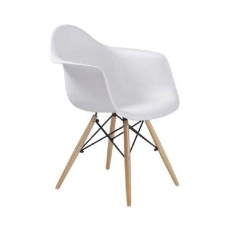 Fotel, bükkfa + féher, DAMEN NEW