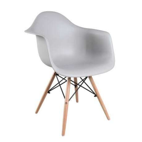 Fotel, bükkfa + szürke, DAMEN
