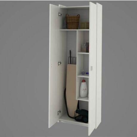 Praktikus kombinált szekrény, fehér, NATALI TYP 6