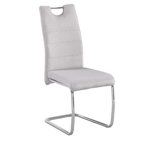 Étkező szék, króm/ szövet/világos varrás, ABIRA NEW