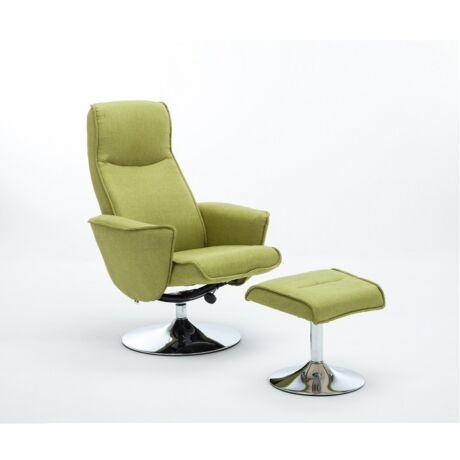 LONATO Trendi fotel zöld szövettel
