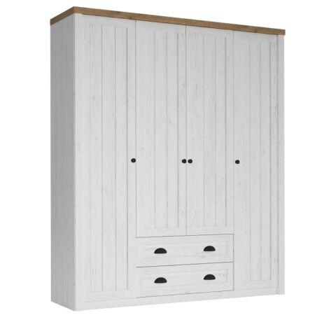 PROVANCE S4D ruhásszekrény, fenyő ANDERSSEN / lefkas tölgyfa