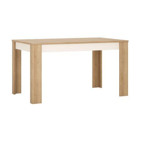 Étkezőasztal LYOT03, riviera tölgyfa/fehér, LEONARDO