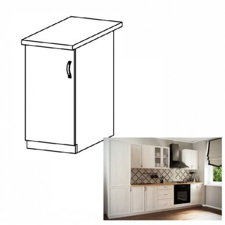SICILIA D40 ballos alsó konyha szekrény ajtóva