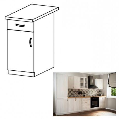 SICILIA D40S1 konyha szekrény ajtóval és fiókkal balos