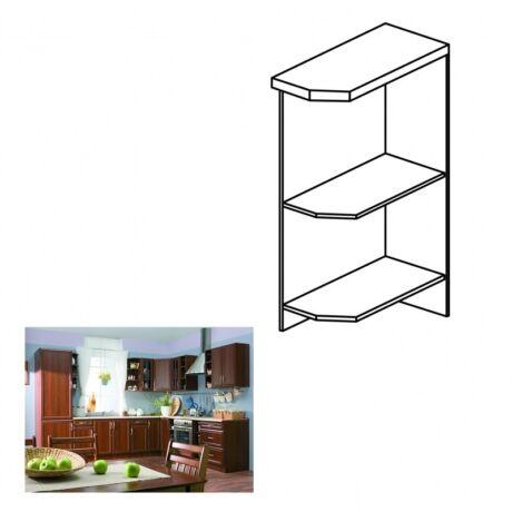 Jobbos alsó nyitott konyha szekrény, dió Milano, SICILIA D25PZ