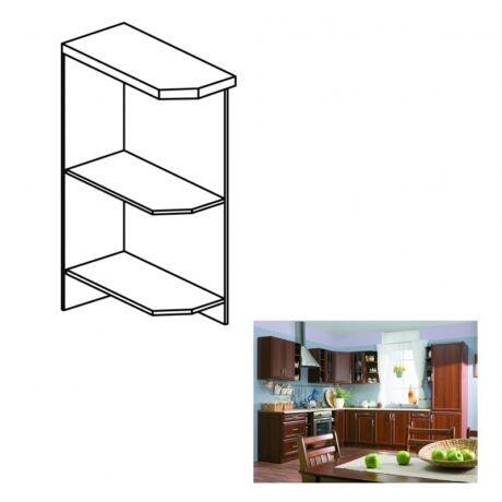 Balos alsó nyitott konyha szekrény, dió Milano, SICILIA D25PZ