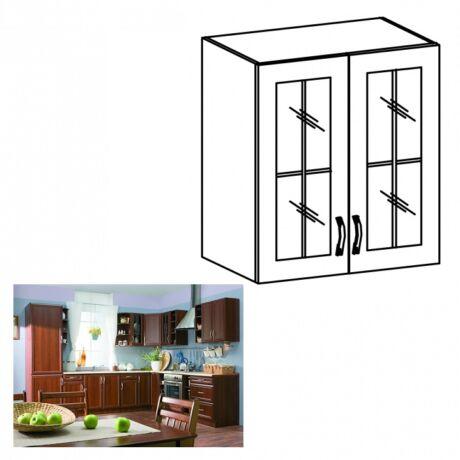 Felső szekrény üveggel, dió Milano, SICILIA G60S