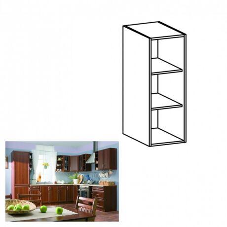 Felső nyitott konyha szekrény, dió Milano, SICILIA W200