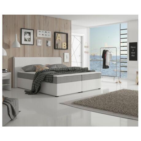 NOVARA KOMFORT Kényelmes francia ágy inari 91 / ekobőrrelszín:     szürke/fehér