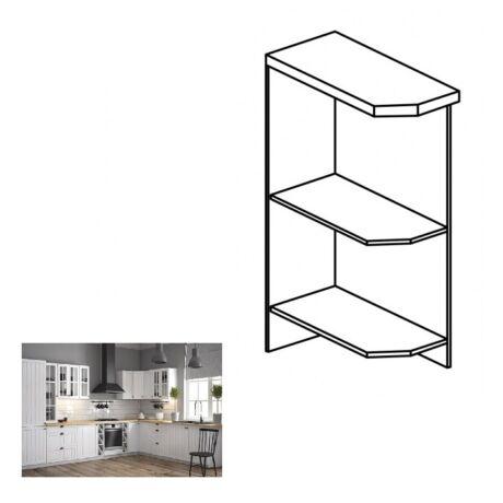 PROVANCE D25PZ konyhai alsó szekrény, jobbos, fenyő    ANDERSEN/fehér