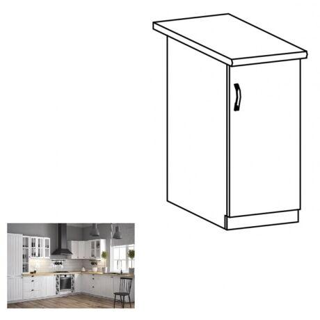PROVANCE D30 konyhai alsó szekrény ajtóval, jobbos, fenyő    ANDERSEN/fehér