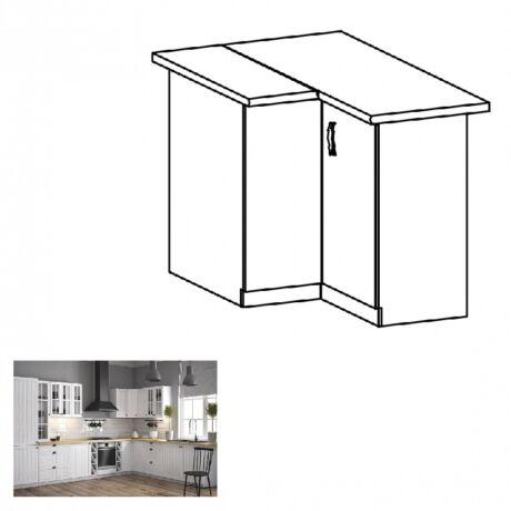 PROVANCE D90N konyhai alsó sarok szekrény, fenyő ANDERSEN/fehér