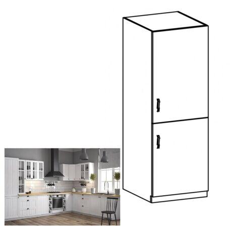 PROVANCE D60ZL jobbos konyhai alsó szekrény beépített hűtőhöz, fenyő     ANDERSEN/fehér