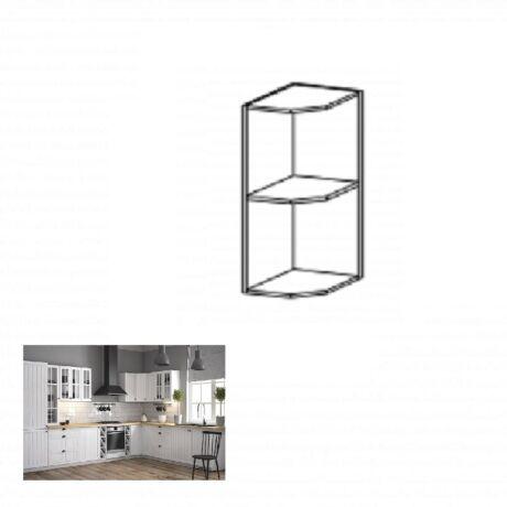PROVANCE G25PZ konyhai felső polcos szekrény, fenyő     ANDERSEN/fehér