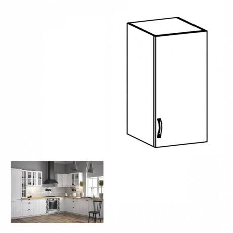 PROVANCE G30 konyhai jobbos felső szekrény ajtóval és egy polccal,     fenyő ANDERSEN/fehér
