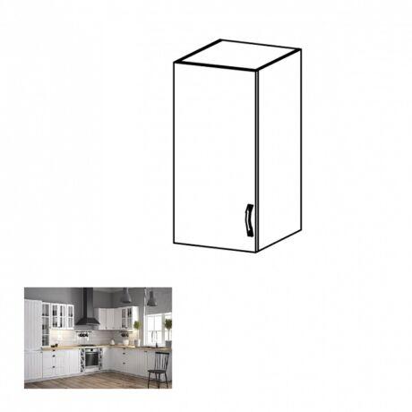 PROVANCE G30 konyhai balos felső szekrény ajtóval és egy polccal,     fenyő ANDERSEN/fehér