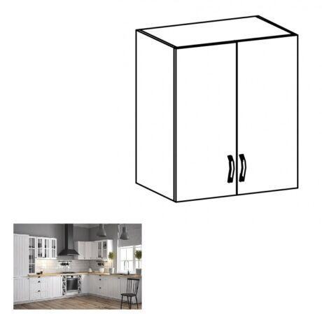PROVANCE G60 konyhai felső szekrény két ajtóval, fenyő     ANDERSEN/fehér