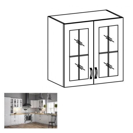 PROVANCE G60S konyhai felső szekrény üveges ajtóval, fenyő     ANDERSEN/fehér