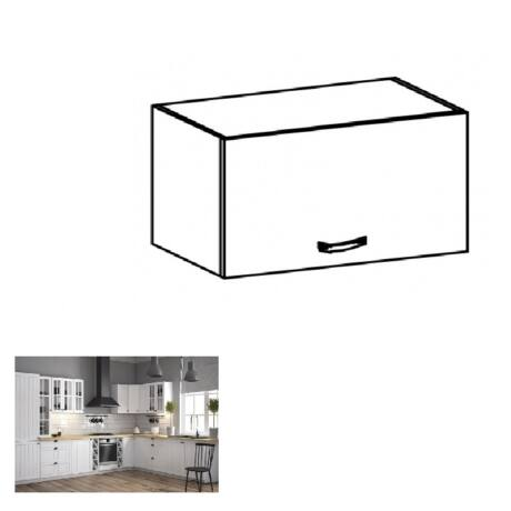 PROVANCE G50K konyhai felső szekrény felfelé nyíló ajtóval, 50x40x32     cm, fenyő ANDERSEN/fehér