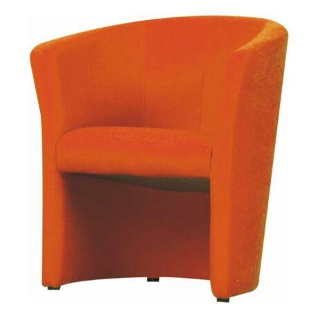 Fotel, narancs színű, CUBA