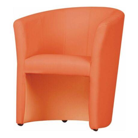 Fotel, textilbőr narancs színű, CUBA