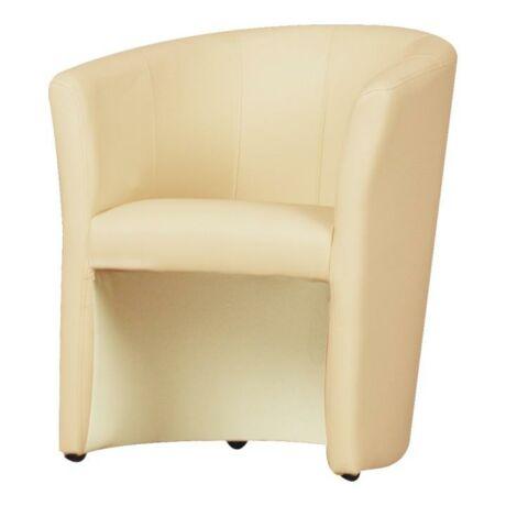 Fotel, textilbőr bézsszínű, CUBA