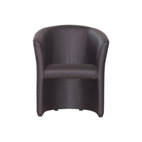 Fotel, textilbőr fekete, CUBA