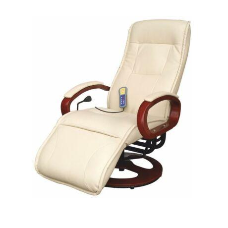 Mechanikusan állítható pihenő fotel, krémszínű, ARTUS