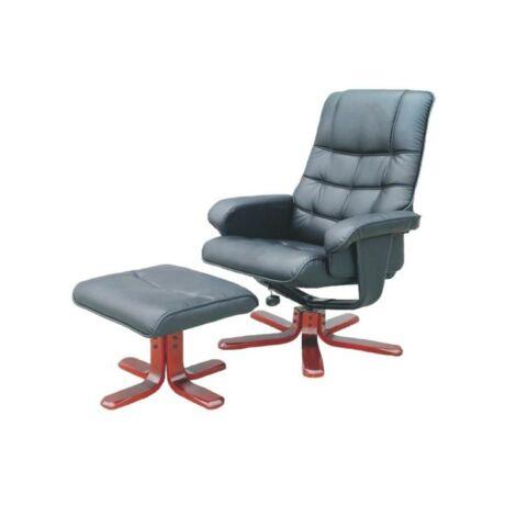 Pihenő fotel masszázs funkcióval, fekete, AUREL