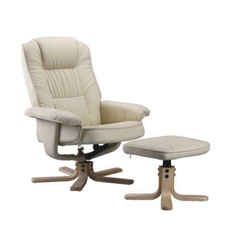 Állítható pihenő fotel, bézsszínű, EDDIE