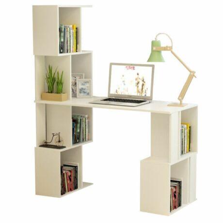 FLOKI NEW számítógépasztal könyvespolccal