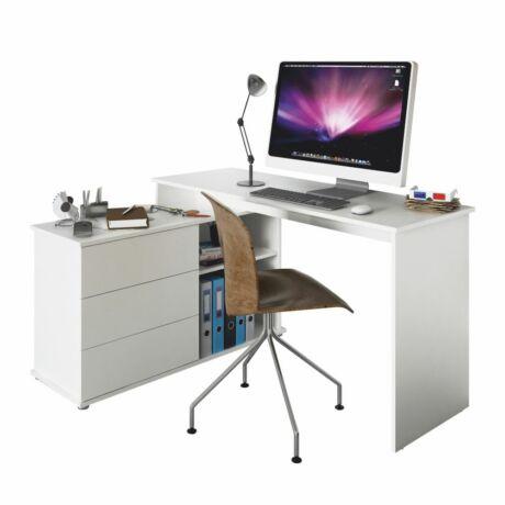 TERINO sarok számítógépasztal- fehér