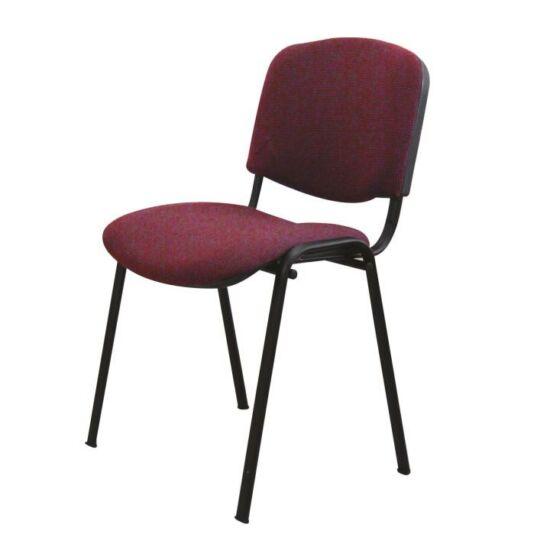 Egymásra rakható szék, bordó, ISO NEW
