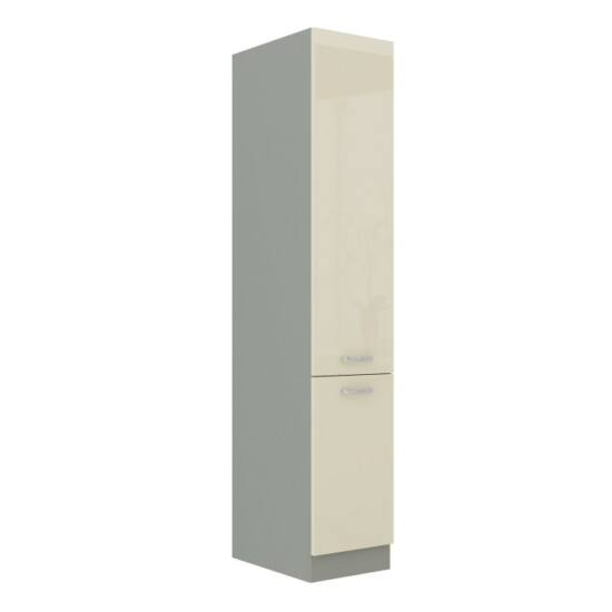 Alsó szekrény magas, piros magas fényű fehér, PRADO 40 DK-210 2F
