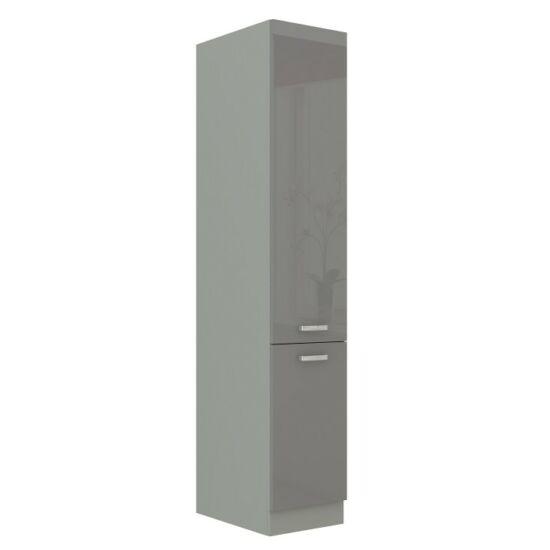 Alsó szekrény magas, szürke magas fényű fehér, PRADO 40 DK-210 2F